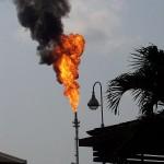 Gasverbrennung bei der Ölförderung