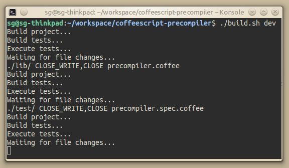 Bash-Build-Script für Node